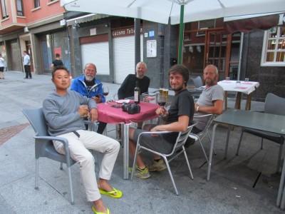 vlnr Chang, Jean-Paul, Klaas, Aleks, Evert