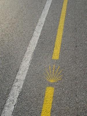 Wegwijzer langs autoweg