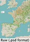 Kaart_Camino_vanuit_Nederland_icon-psd