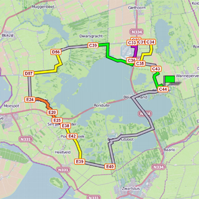 Route Belter en Beulakerwiede