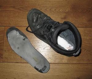 Inlegzool van je schoen moet in goede conditie zijn