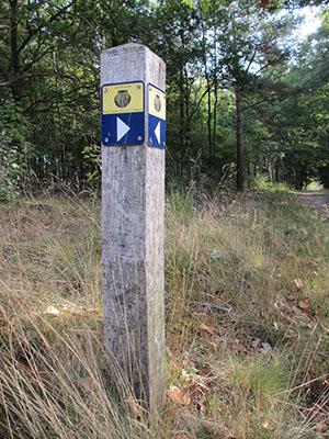 Routepaaltje Jacobspad