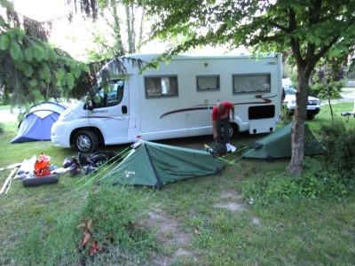 Op de camping..