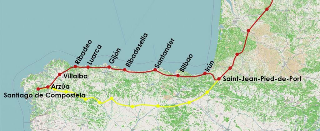 Camino Norte en Frances