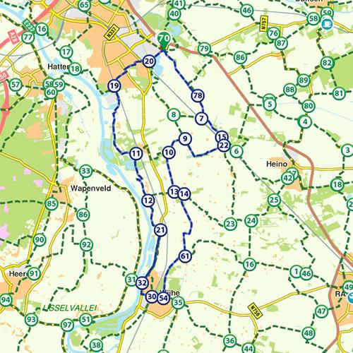 Route Zwolle - Wijhe